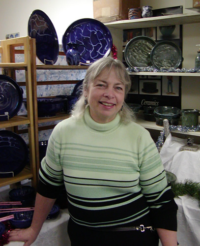 Barb Lund in her studio